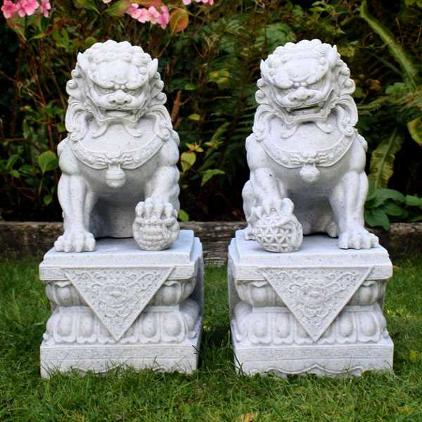 Chinese Foo Dog Front Building Outdoor Guardian Lion Statue for Sale from China Factory--MOKK-119