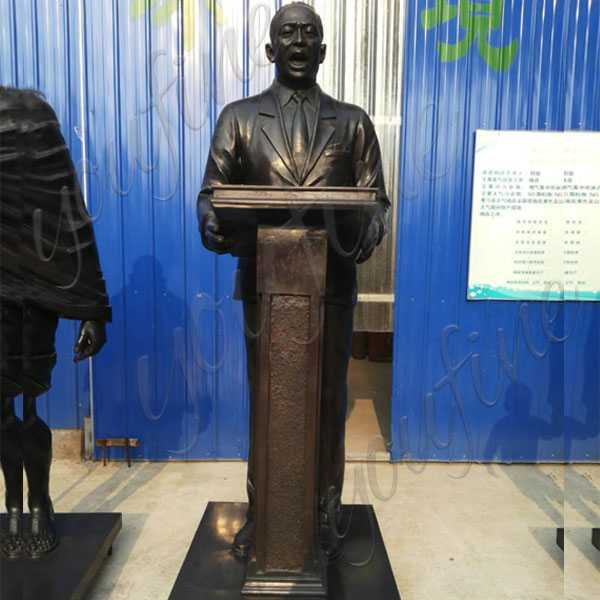 Cusotm Made Life Size Famous Bronze Statue Martin Luther King speech in Front of the Lincoln Memorial Antique Bronze Figure Statue for Sale--BOKK-514