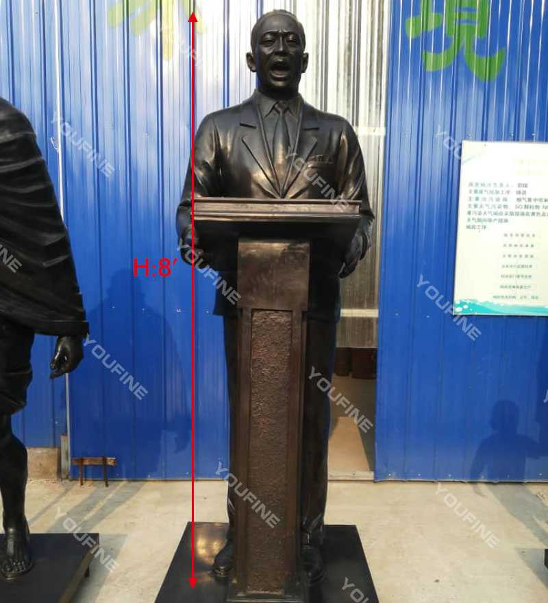 Cusotm made Life size famous bronze statue Martin Luther King on speech replica for sale