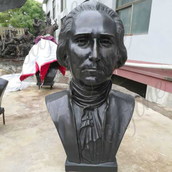 Custom Made Famous Bronze Bust Sculpture of George Washington Replica Life Size Busts for Sale--BOKK-511