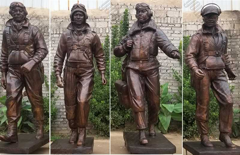 Custom Made Madetuskegee Airmen Statue Monument Replica Life Size Bronze Statues Commission