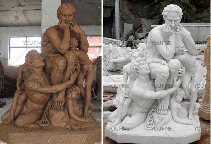Custom Made White Marble Statue ofUgolino and His Sons statue