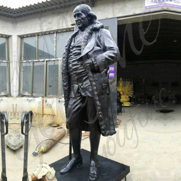 Custom Made Famous Figure Statue of Benjamin Franklin Famous Bronze Statue for Sale–BOKK-509