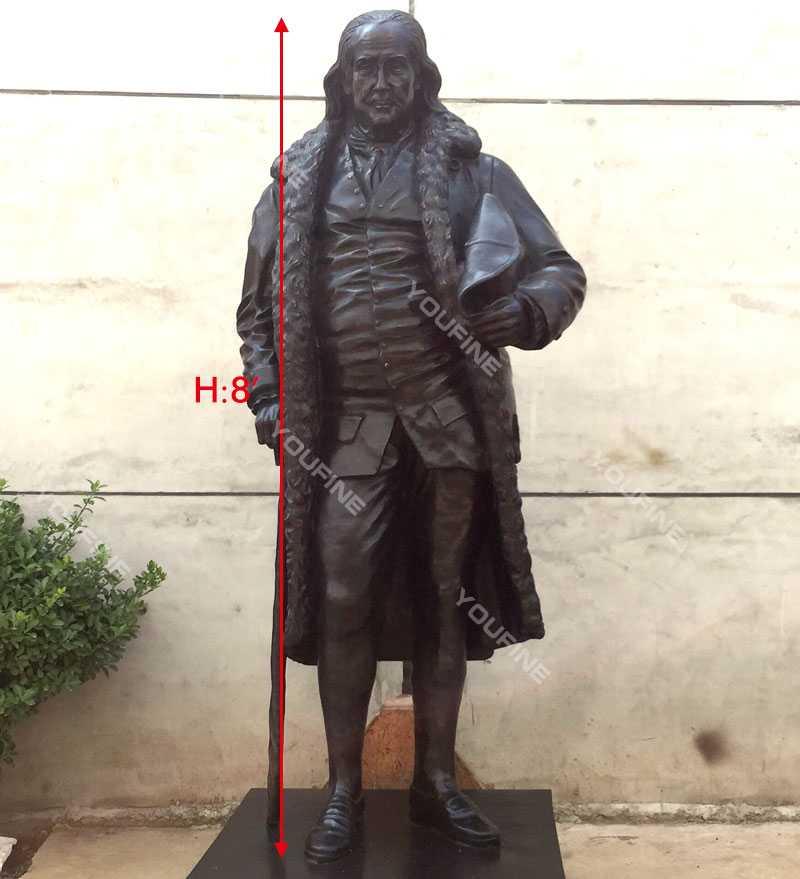 Custom made Famous figure statue of Benjamin Franklin famous bronze statue