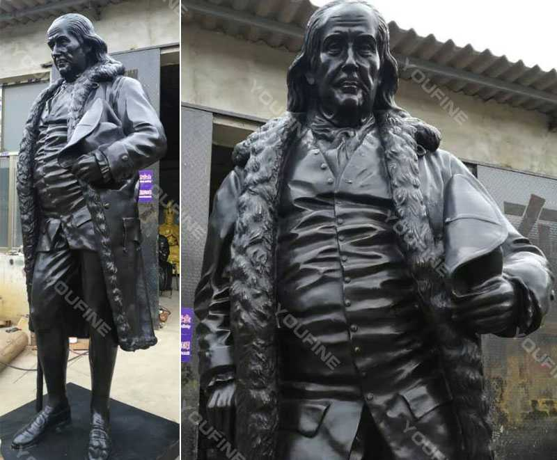 Custom made Famous figure statues of Benjamin Franklin famous bronze statue for sale