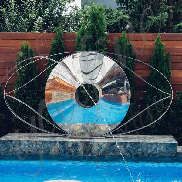 High Polished Contemporary Outdoor Sculptures Beside The Swimming Pool Design for Sale CSS-63