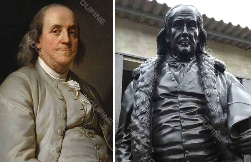 Custom made statue of Benjamin Franklin famous bronze statue for sale
