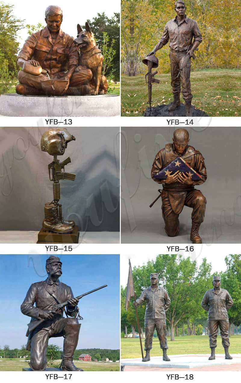 Fallen Soldier Battle Cross Statue Battlefield Cross Statue for Memorial