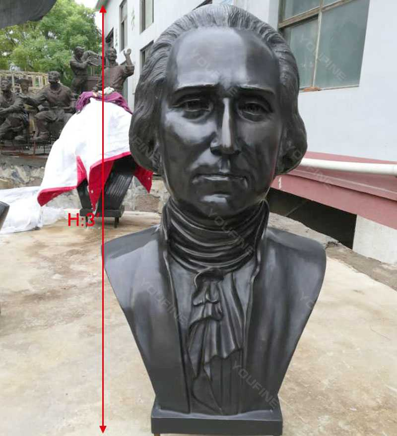 Famous Bronze Bust Sculpture of George Washington Replica Life Size Busts for Sale