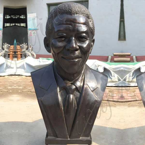 Famous Casting Bronze Nelson Rolihlahla Mandela Replica of Head Bust Sculpture Cost for Sale-BOKK-516