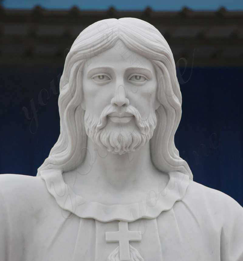 Full Size Sacred Heart Jesus Statues Made of White Marble for Sale