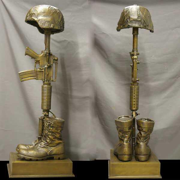 Garden Statue Fallen Soldier Battle Cross Statue Battlefield Cross Statue for Memorial for Sale–BOKK-526