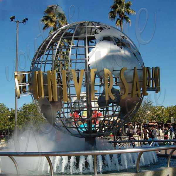Gazing globe famous metal sculpture outdoor world globes stainless steel globe map sculpture design for sale--CSS-50