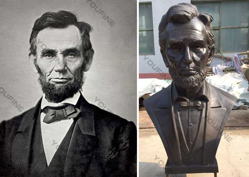 Large Custom Made Abraham Lincoln Replica of Bronze Bust Statue Decorative Bust Sculptures design