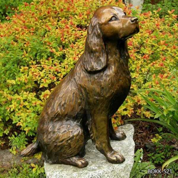 Life Size Custom Dog Statues Antique Bronze Dog Garden Statue for Our American Friend