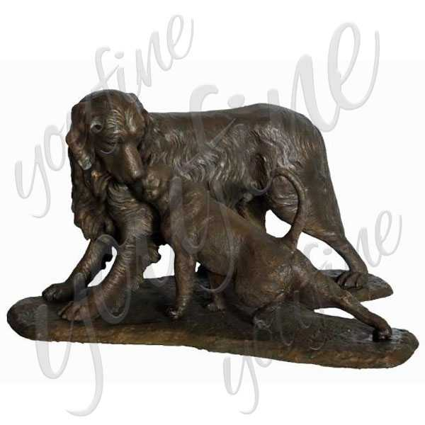 Life Size Custom Dog Statues Antique Bronze Dog Garden Statue for Our American Friend for Sale–BOKK-521