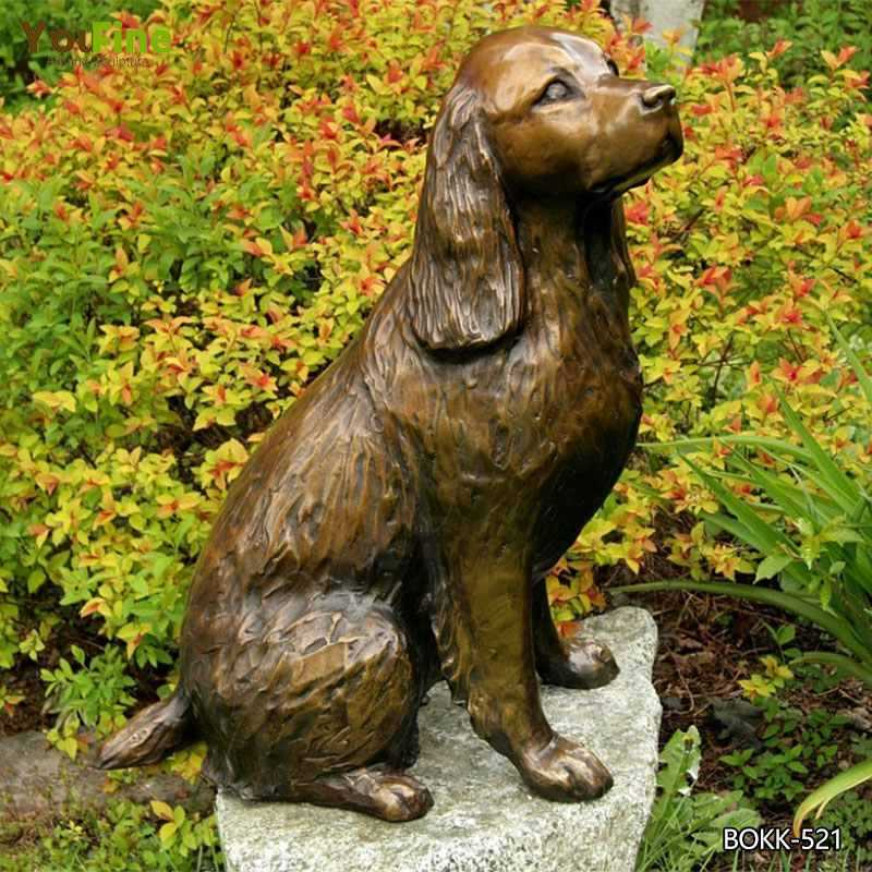 Life Size Custom Dog Statues Antique Bronze Dog Garden Statue for Our American Friend for Sale BOKK-521