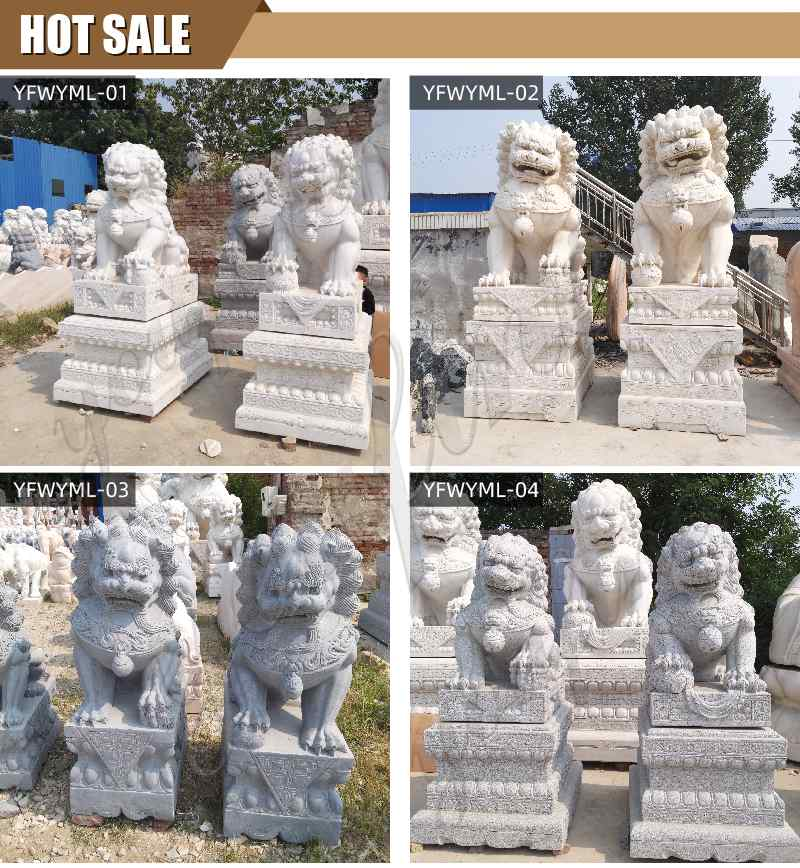 Life Size Garden Statue Chinese Guardian Lions