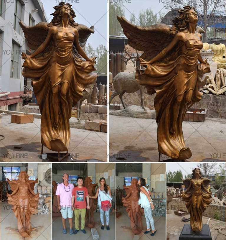 Life size beauty garden decor famous bronze figure statues female statue design for sale (