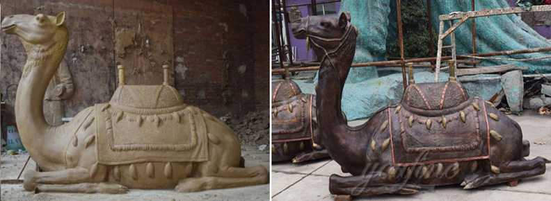 Life size bronze casting camel statue for sale animal statue and lawn ornaments