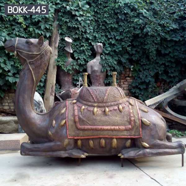 Life Size Bronze Casting Camel Statue For Sale Animal Statues And Lawn Ornaments–BOKK-445