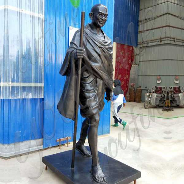 Life size happy Gandhi Jayanti Status Famous bronze statue of gandhi jayanti status replica for commemorating for sale--BOKK-510