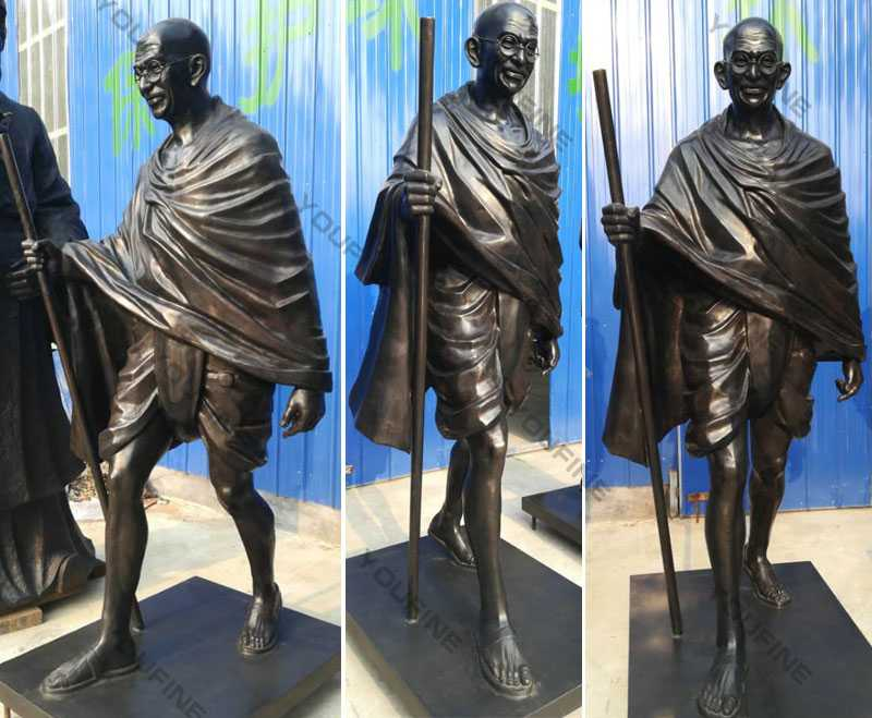 Life size happy Gandhi Jayanti Status Famous bronze statue of gandhi jayanti status replica for memorary