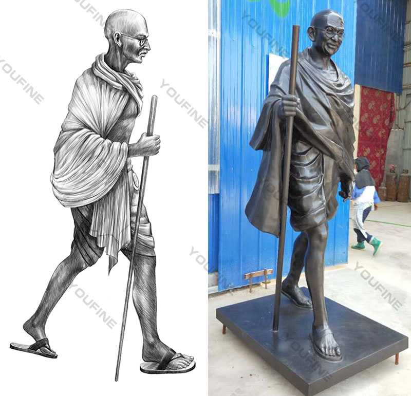 Life size happy Gandhi Jayanti Status Famous bronze statue of gandhi jayanti status replica for sale