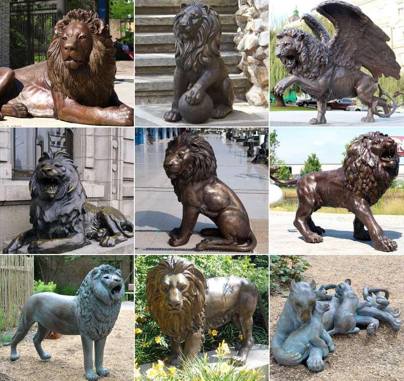 MOKK-492 casting bronze lion statue