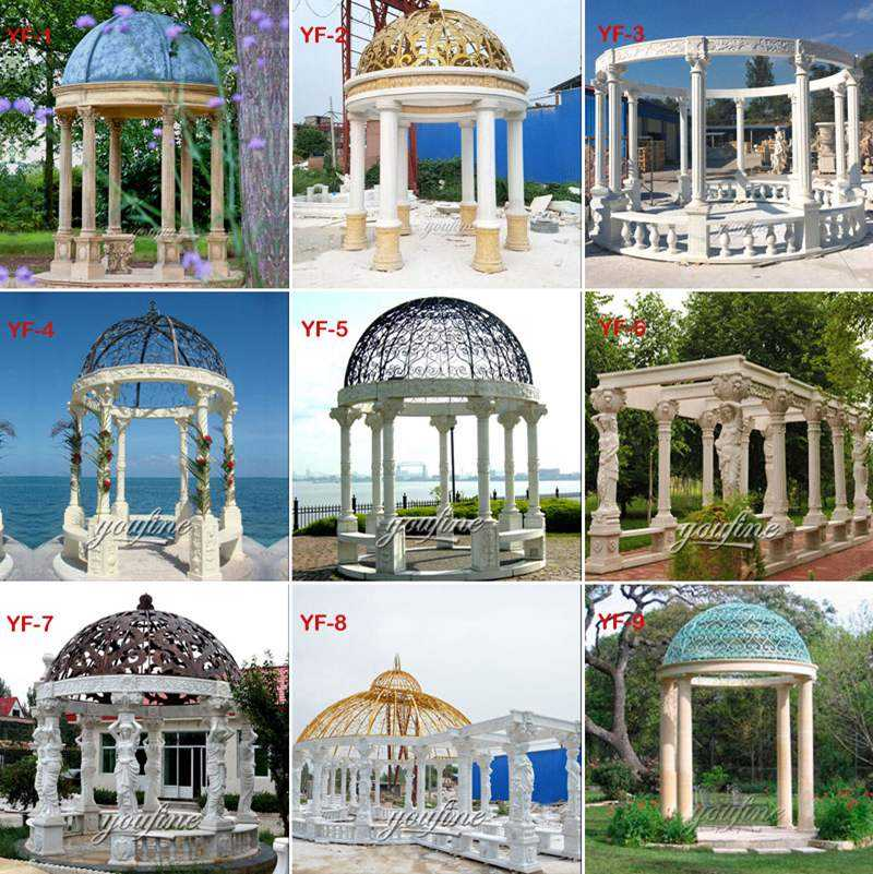 MOKK-99 Outdoor Garden Ornament Marble Gazebo