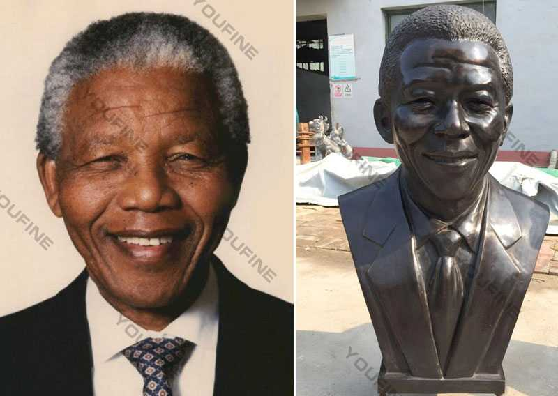 Nelson Rolihlahla Mandela replica of head bust sculpture cost for sale