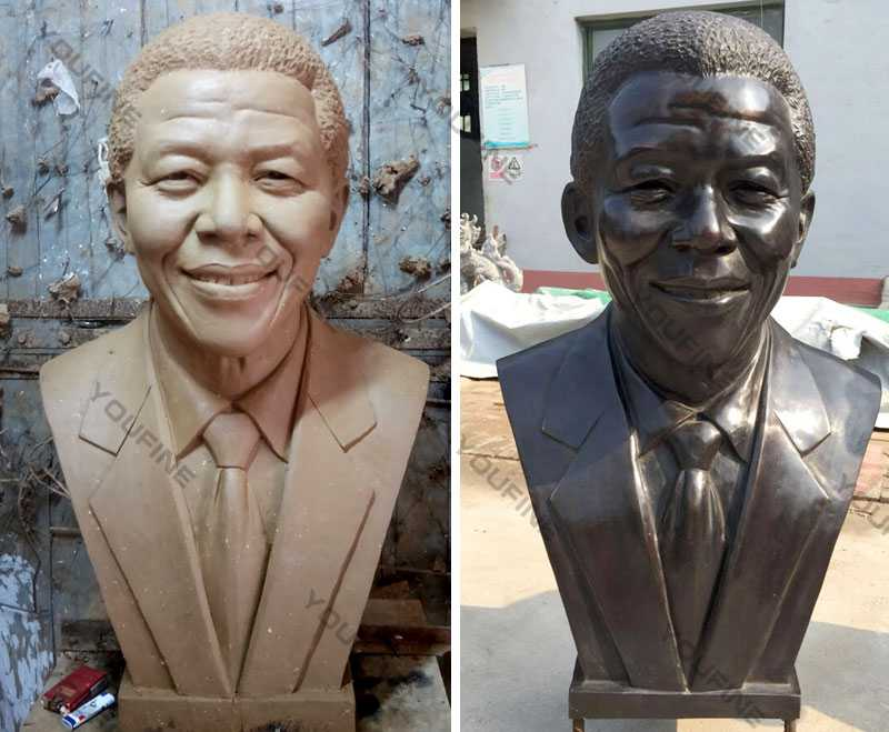 Nelson Rolihlahla Mandela replica of head bust sculpture cost