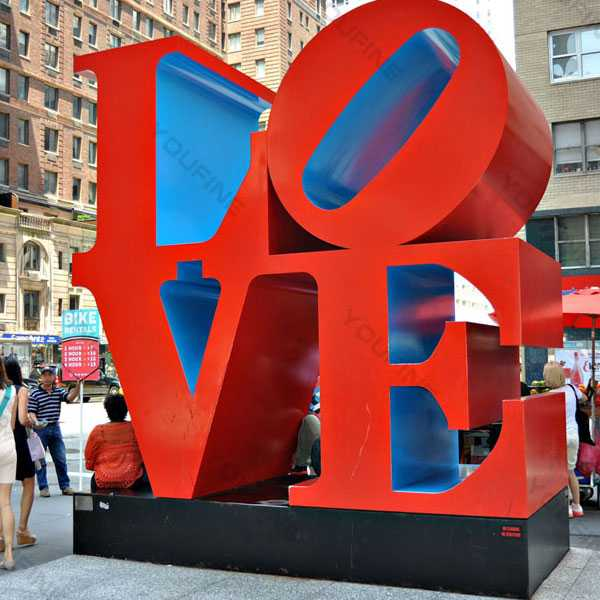 New York Park High Polished Outdoor Stainless Steel Love Sculpture Font  for Sale for Garden Decor–CSS-43