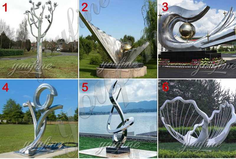 Outdoor Modern Mirror Polished Metal Fish Art of Stainless Steel