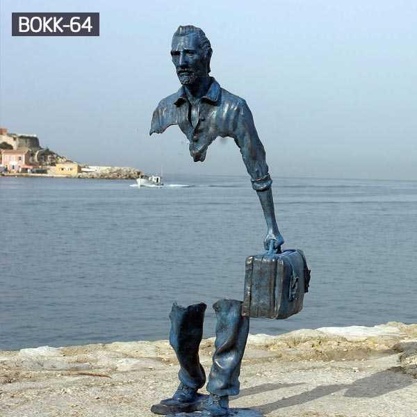 The Beautifully Imperfect Bronze Sculptures Of Bruno Catalano bronze figure statue for street decor--BOKK-64