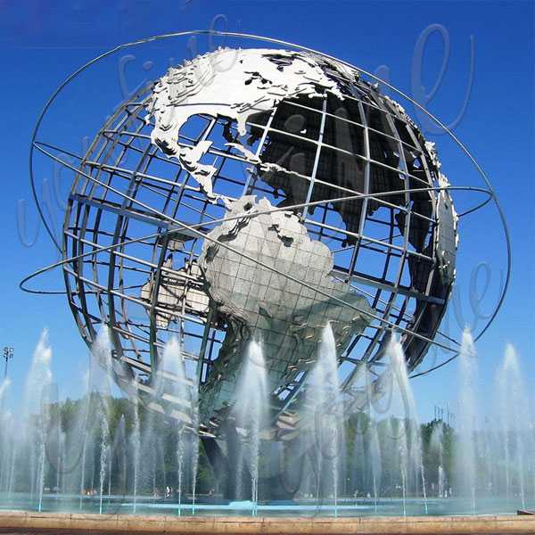 World Famous Giant World Stainless Steel Globe Sculpture Mirror Sphere Design from New York–CSS-49