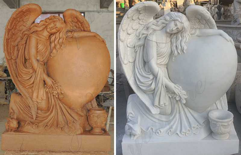 angel-heart-headstone-monument-for-sale