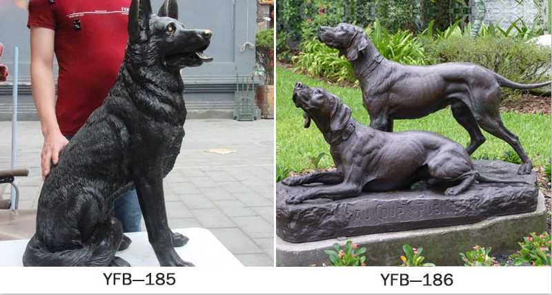 antique bronze dog sculptures for sale