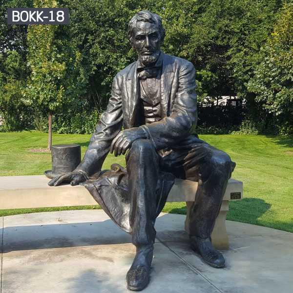 antique bronze statue for garden decor--BOKK-18