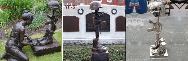 battlefield cross statue fallen soldier garden statue for sale