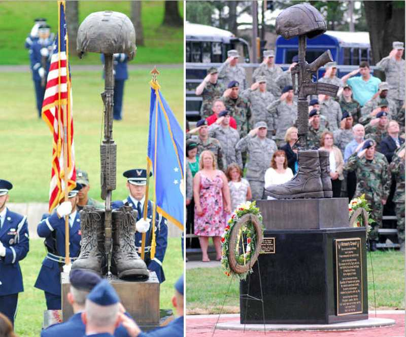 boots rifle and helmet statue designs battlefield cross memorial for sale