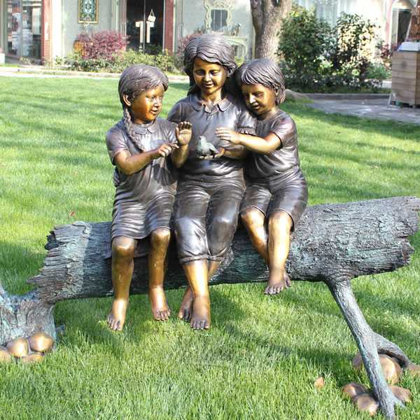 bronze child statue for lawn decor for sale