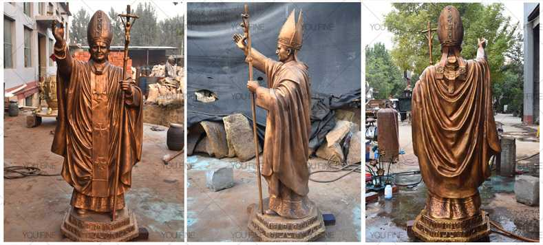 bronze statue Pope John Paul II