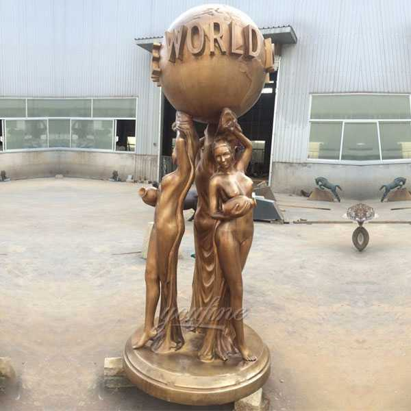 bronze statue the world is you designs for sale