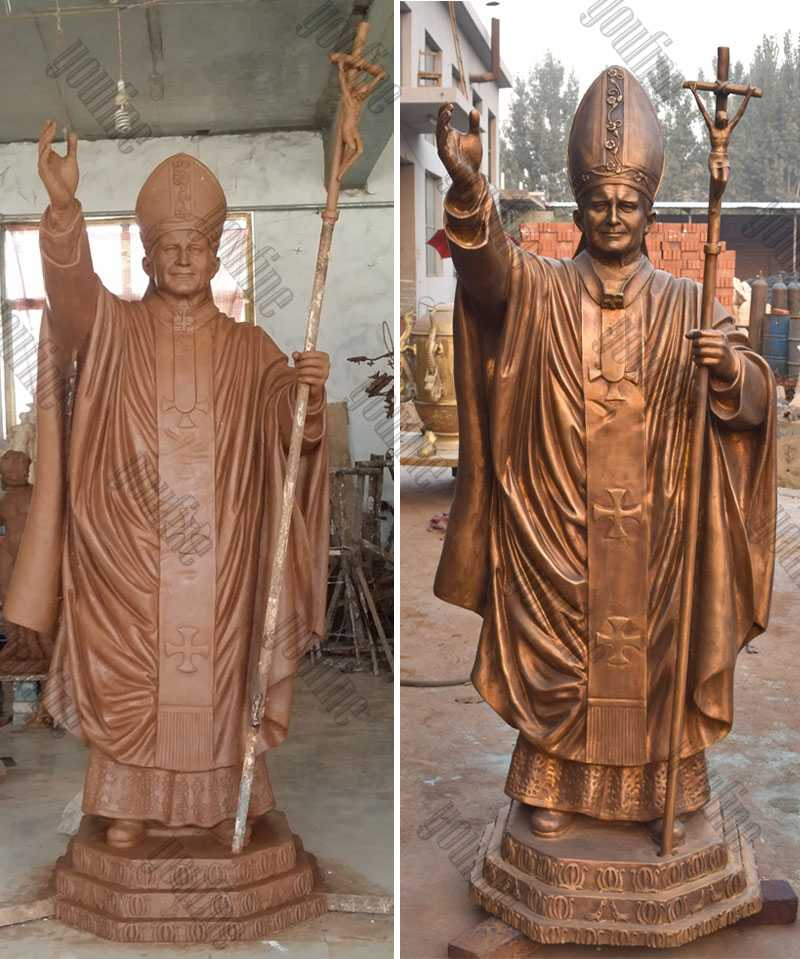 catholic statue bronze pope John Paul II statue for sale