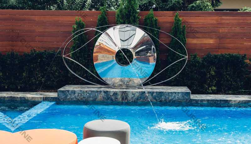 contemporary outdoor sculptures beside the swimming pool design for sale