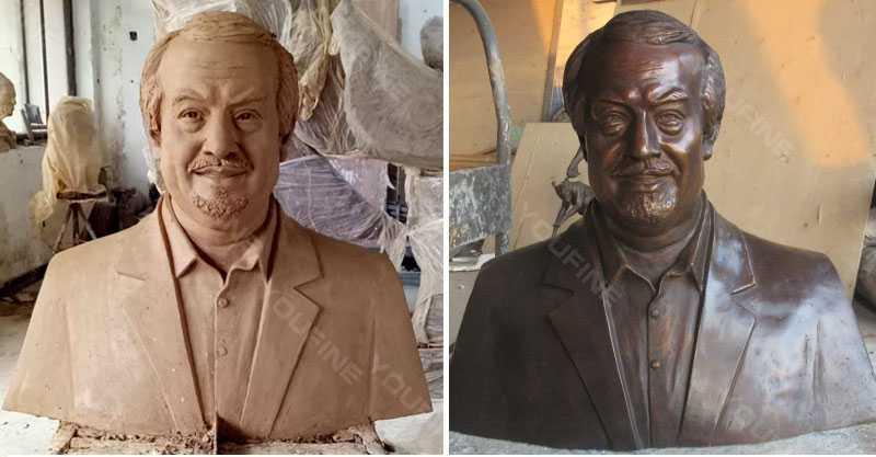 custom bust statue of yourself in bronze
