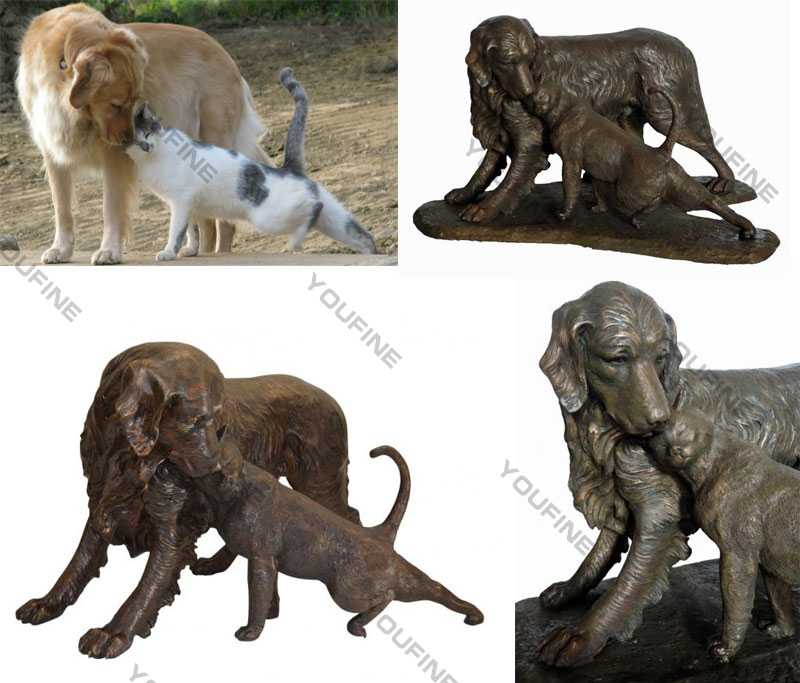 custom dog statues antique bronze dog garden statue for our american friend for sale