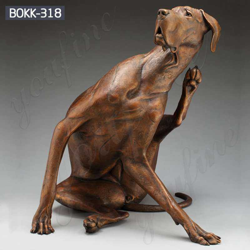 custom made casting bronze dog outdoor garden statues large outdoor dog statues yard art