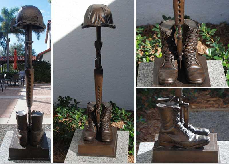 fallen soldier memorial statues for battlefield cross ceremony for garden